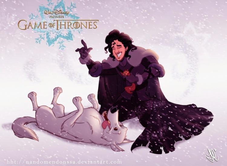 E se Game of thrones fosse uma animação Disney2