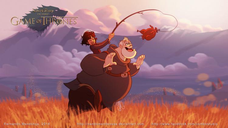 E se Game of thrones fosse uma animação Disney3