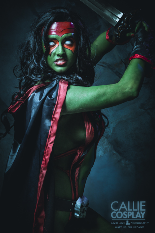 cosplayer Gamora