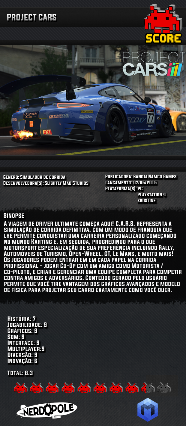 Review do Jogo Project Cars