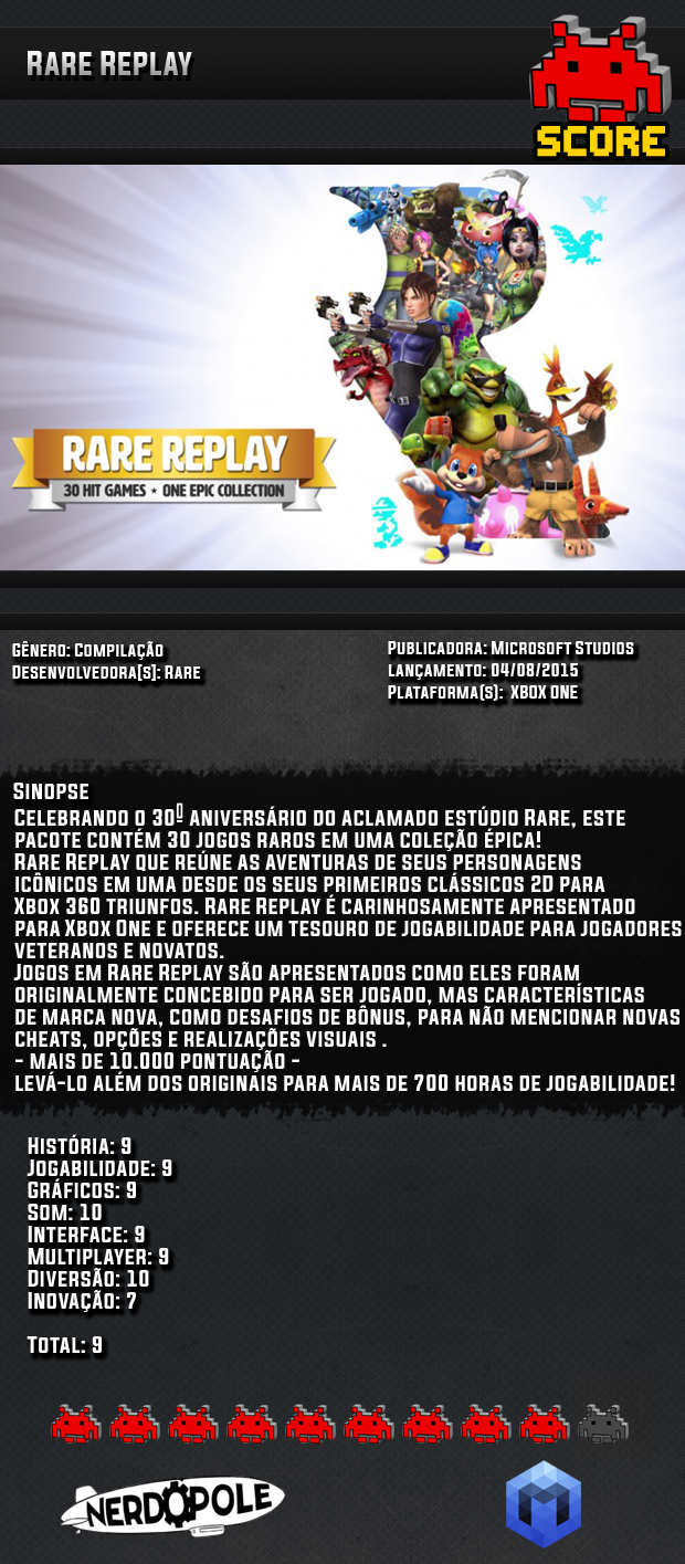 Review do Jogo Rare Replay