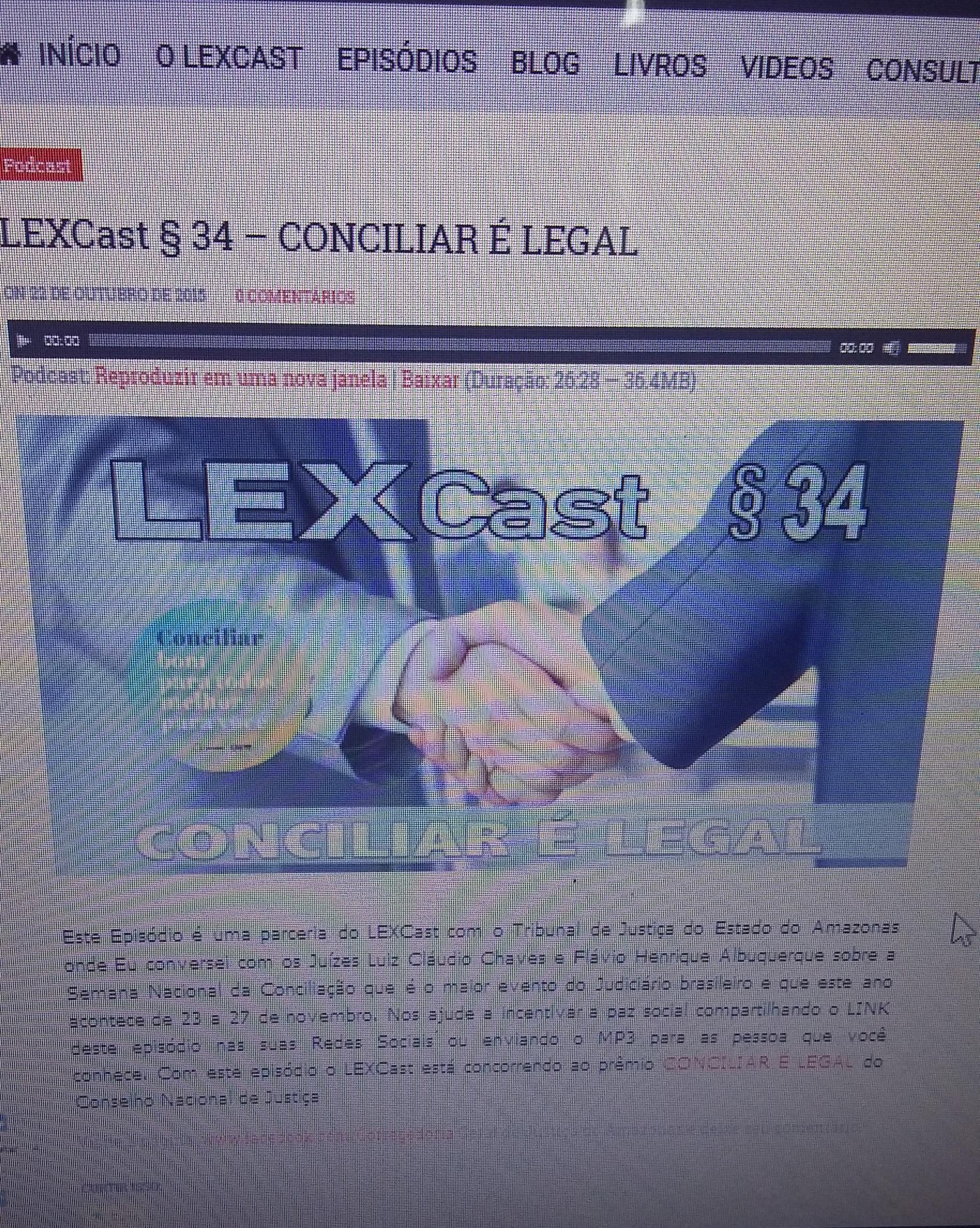 Entrevista com o Podcast LEXCast