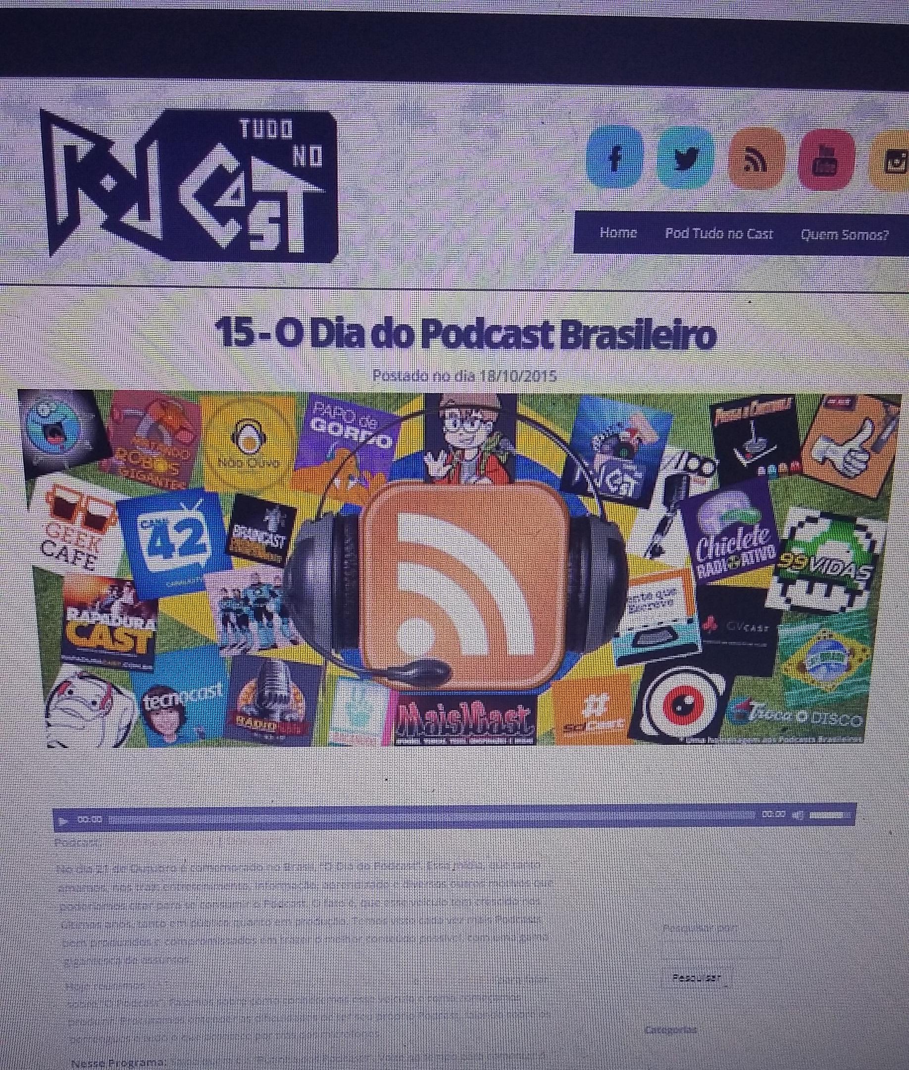 Entrevista com o Podcast - Pod Tudo no Cast
