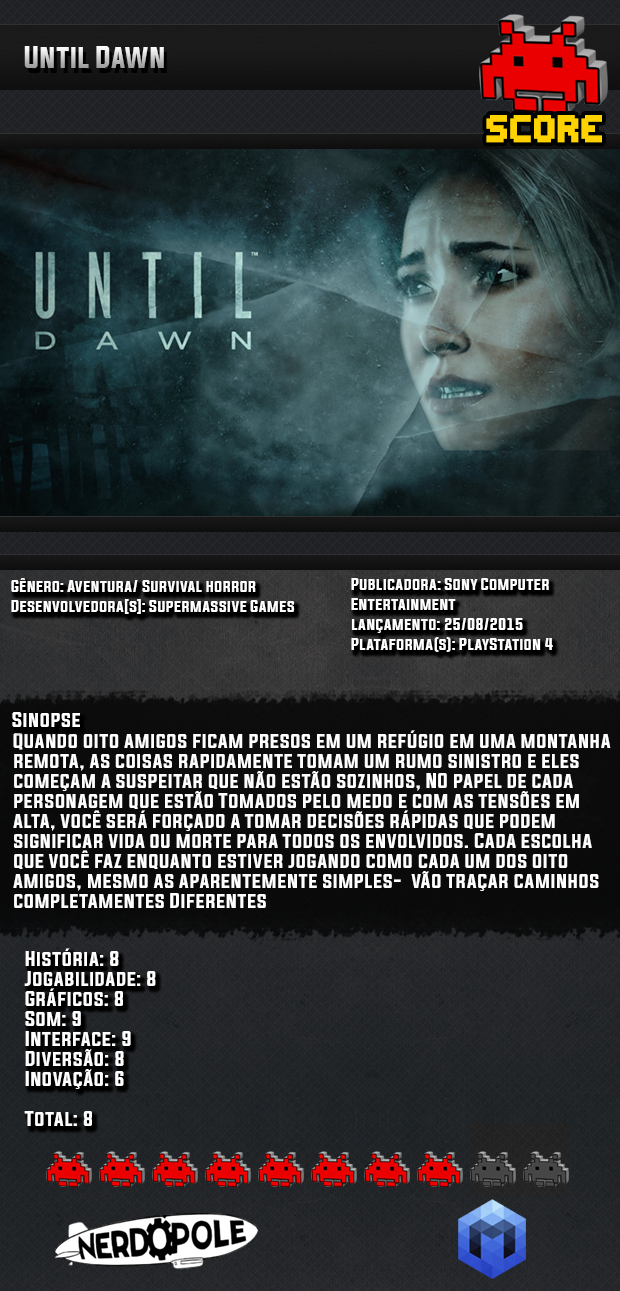Review do Jogo Until Dawn