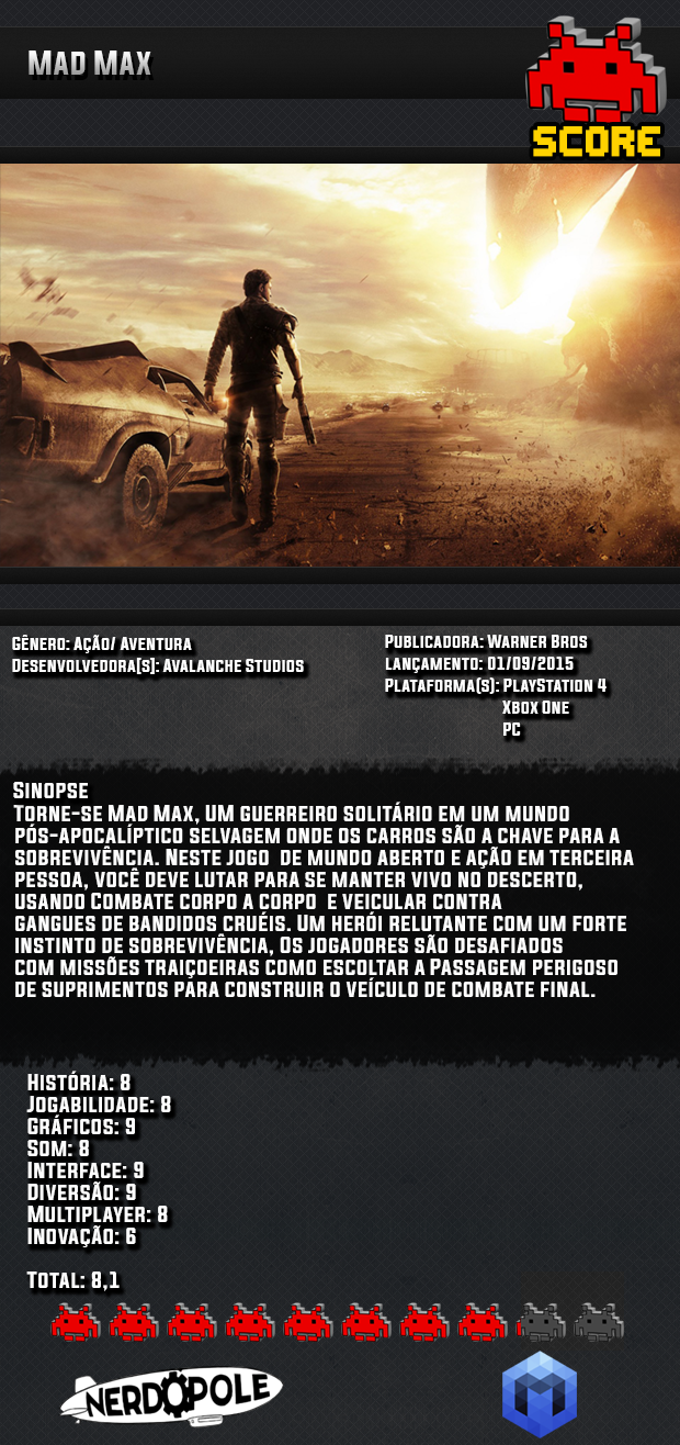 Review do Jogo Mad Max